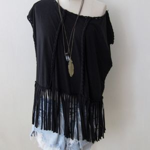 All Saints fringed festival top